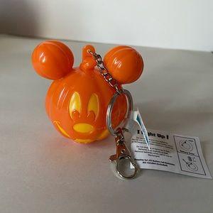 Mickey Mouse Light Up Jack-O-Lantern Keychain